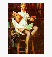 Gil Elvgren Pin Up Librarian Photographic Print
