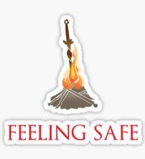 Feeling safe Sticker
