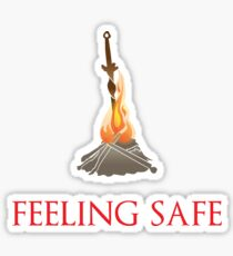 Feeling safe Sticker