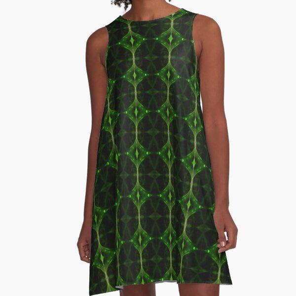 Emerald Tip A-Line Dress
