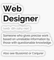 Droll - Web Designer Sticker