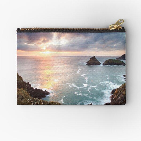 Sunset Kynance Cove Zipper Pouch