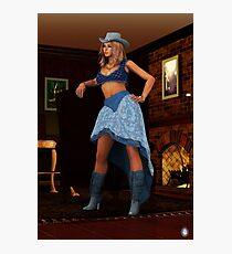 Cowgirl Photographic Print