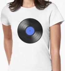 VINYL BLUE Womens Fitted T-Shirt