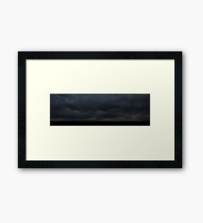 0806 - HDR Panorama - Brooding Sky Framed Print