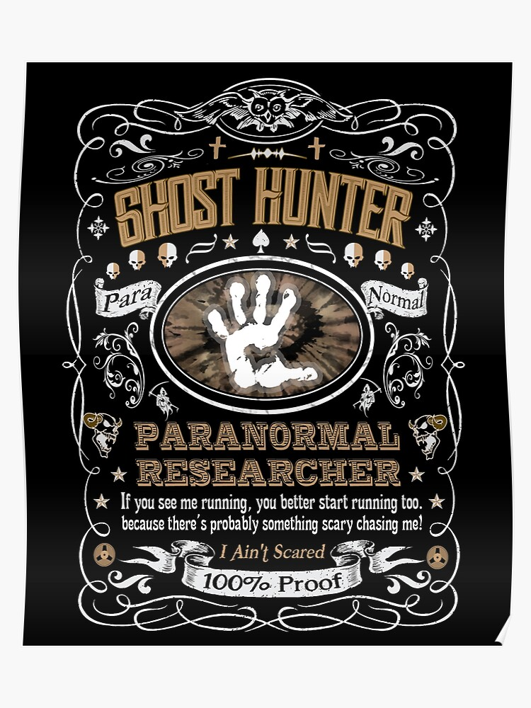 Ghost Hunter Paranormal Researcher Label | Poster