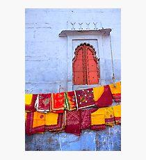 In a Jodhpur Market Fotodruck