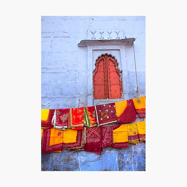 In a Jodhpur Market Photographic Print