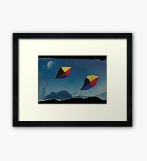 Games in the sky Framed Print