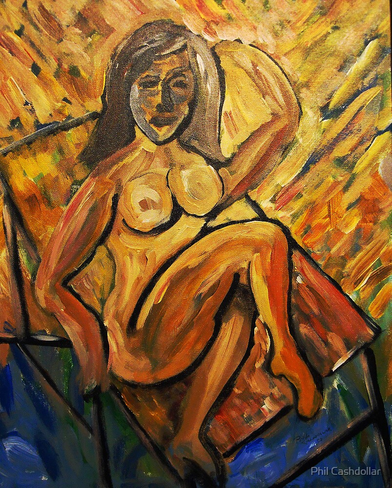 Nude at the Beach by Phil Cashdollar