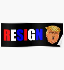 Trump Resign Protest Products Poster
