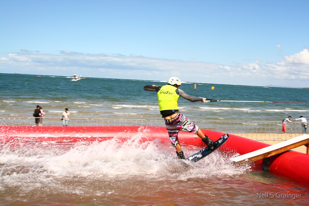 St Kilda Festival Wake Boarding Competition by Neil Grainger