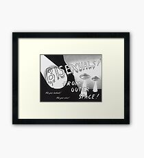 From Outer Space! Framed Print