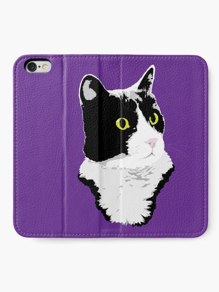 Alternate view of Regal Tuxedo Kitty iPhone Wallet
