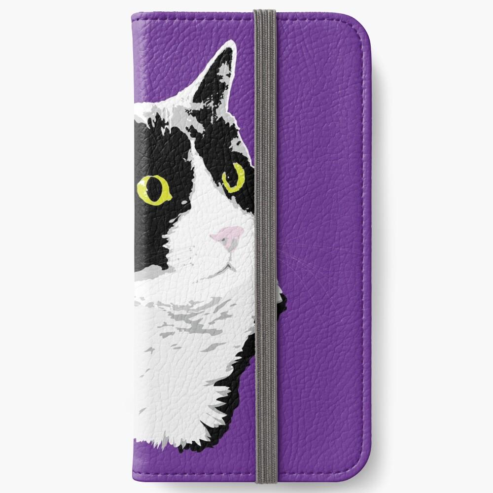 Regal Tuxedo Kitty iPhone Wallet