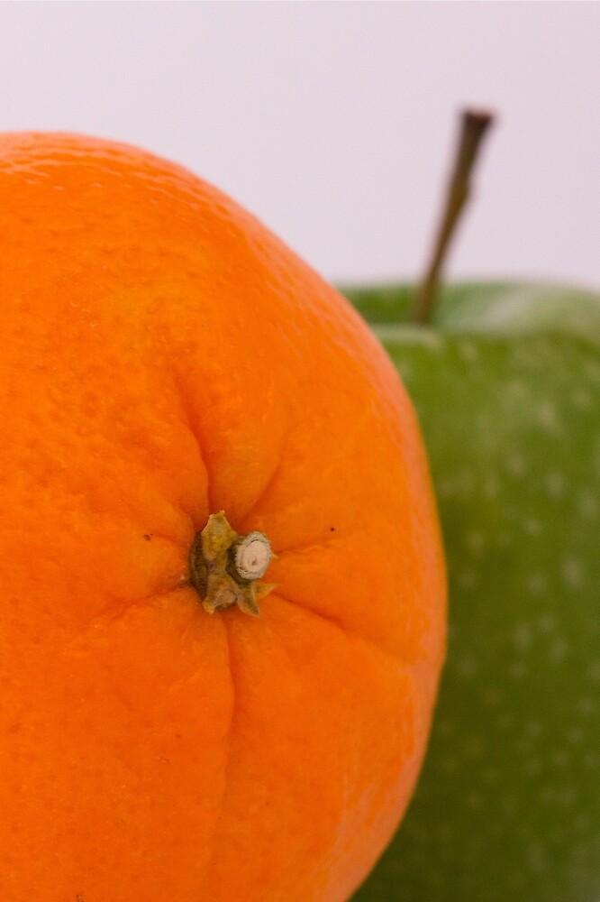 Orange & Apple by Graeme  Hunt