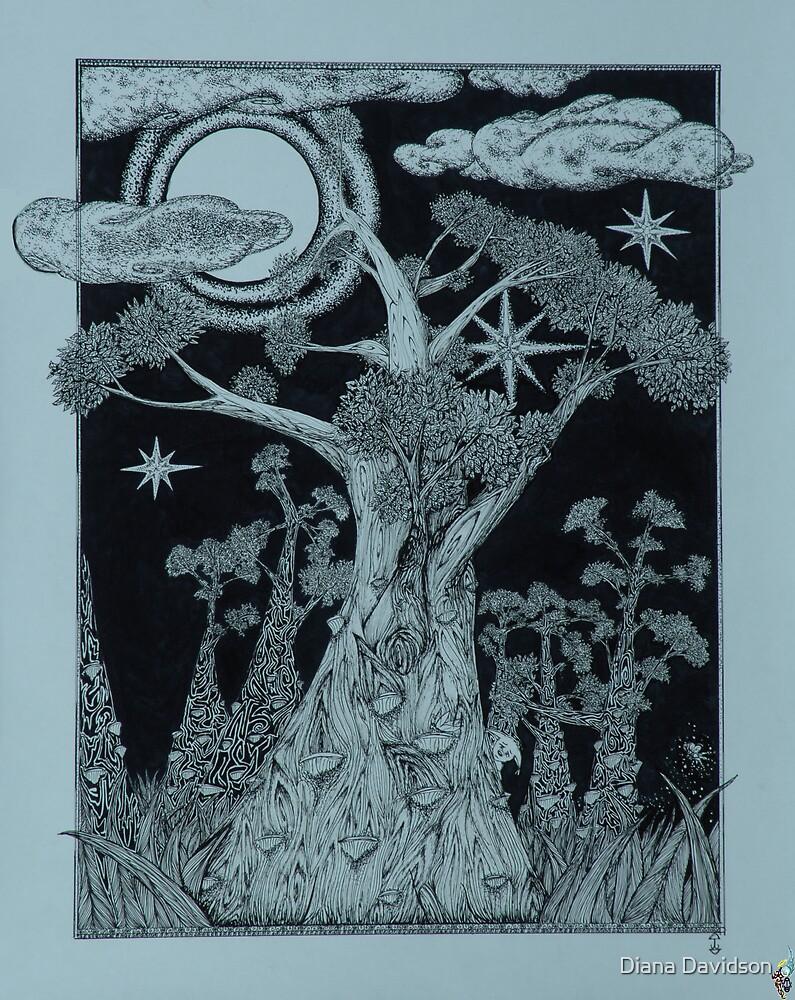 Bobbin Trees ByMoonlight by Diana Davidson