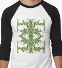 RightOn Green Men's Baseball ¾ T-Shirt