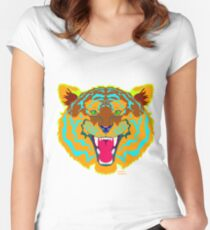 Electric Tiger Women's Fitted Scoop T-Shirt
