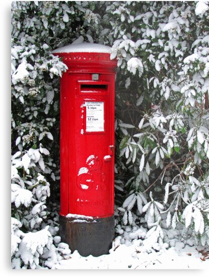 Pillar Box in the Snow by RedHillDigital