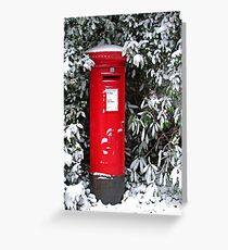 Pillar Box in the Snow Greeting Card