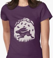 Leaping Hare in Autumn Womens Fitted T-Shirt