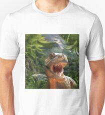T Rex in Prehistoric Landscape Unisex T-Shirt