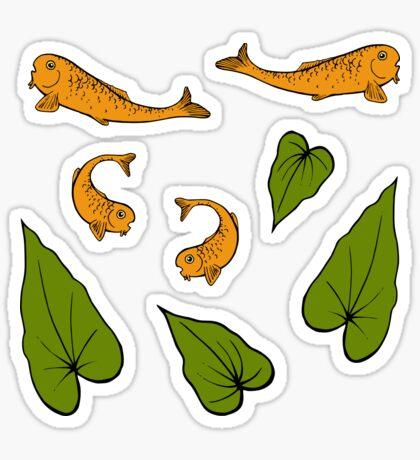 Koi Pond Pattern Sticker