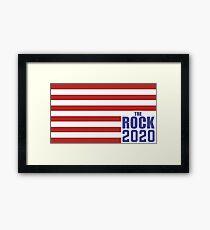 The Rock for President 2020 Framed Print
