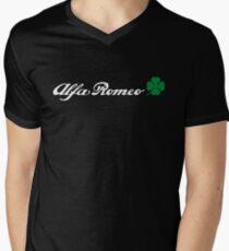Alfa Romeo Quadrifoglio (white) Men's V-Neck T-Shirt