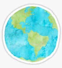 Earth Watercolor Sticker