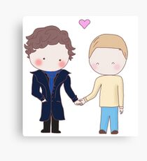 Johnlock - holding hands Canvas Print
