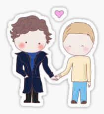 Johnlock - holding hands Sticker