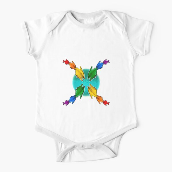 Pride Fishies Short Sleeve Baby One-Piece