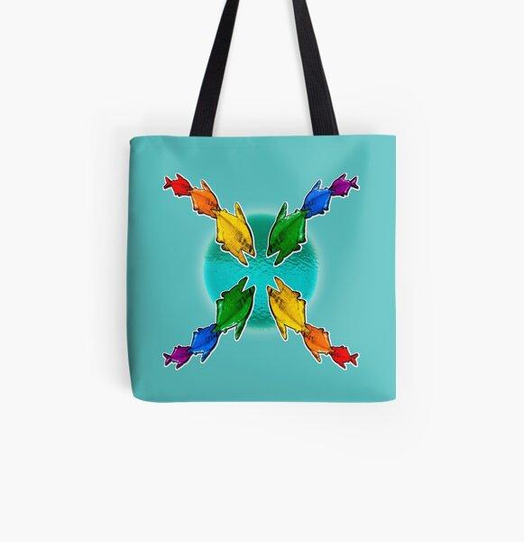 Pride Fishies All Over Print Tote Bag