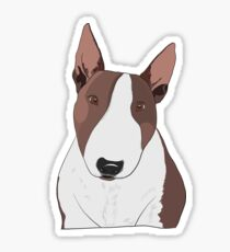 Bull Terrier Illustration Sticker