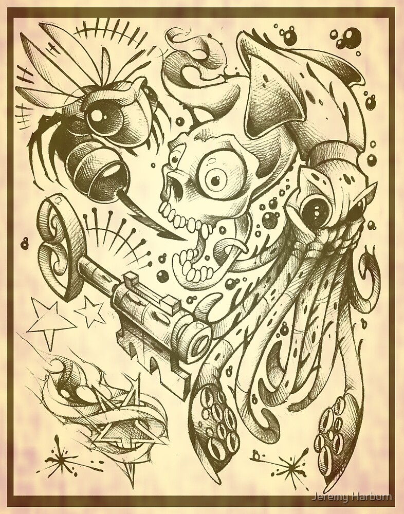 tattoo flash by Jeremy Harburn