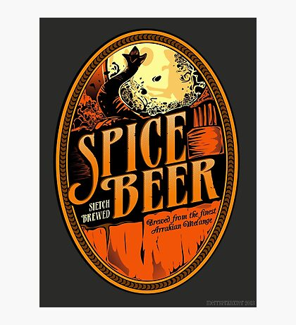 Spice Beer Label Photographic Print