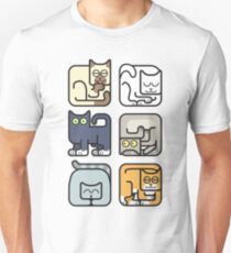 Cute Cat Icon Pattern Unisex T-Shirt