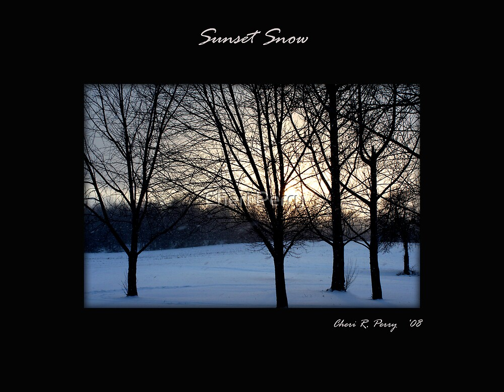 Sunset Snow by Cheri Perry