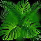 TROPICAL PALM LEAVES BEACH OCEAN 2 by MyHandmadeSigns
