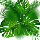 TROPICAL PALM LEAVES BEACH OCEAN 3 by MyHandmadeSigns