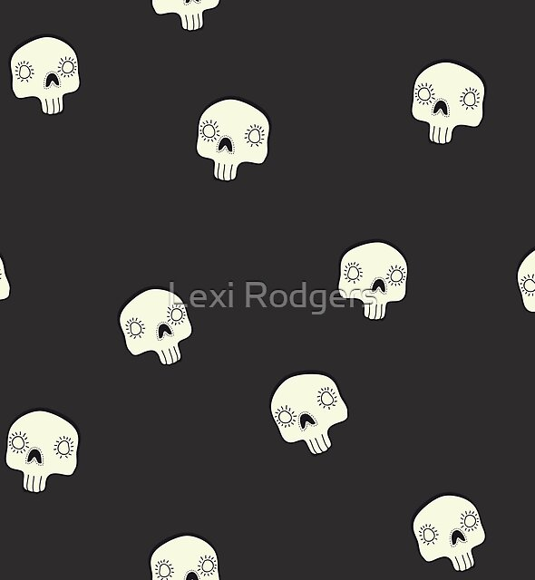 Cute Sugar Skull Black by Lexi Rodgers