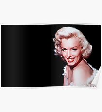 Marylin Monroe Picture Black and White Design Movie Stars Poster