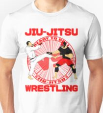 Jiu Jitsu vs Wrestling T-Shirt.   Unisex T-Shirt