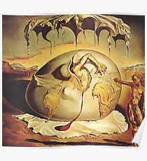 Earth Man born from Dali Poster