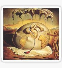 Earth Man born from Dali Sticker