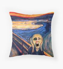 Screaming Nic Throw Pillow