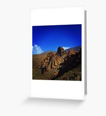 Volcanic cliffs  Greeting Card