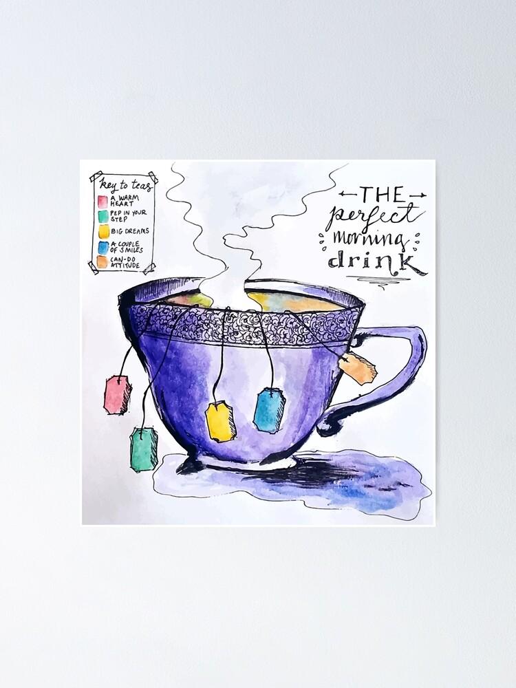 Alternate view of tea Poster